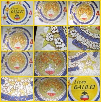 mosaico del logo, fasi di realizzazione